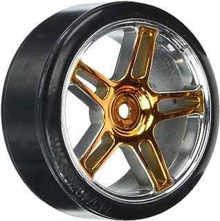 Redcat Racing 阳极氧化黄色漂移轮和轮胎