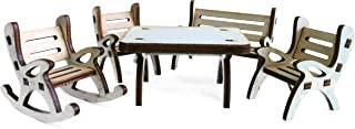 Petra's Craft News A Table GMH04FS2,包含 1 x 1 x 1 x 摇椅花园长椅和 2 把椅 - 5 件