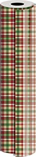 "Jillson Roberts 24"" x 208' Bulk 1/4 Ream 冬季经典圣诞礼品包装,圣诞格子"