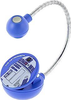 WITHit Disney 星球大战夹式书灯 �C Astromech Galaxy of Adventures �C R2-D2 LED 阅读灯,减少眩光,便携,轻质书签灯,适合儿童和成人,含电池