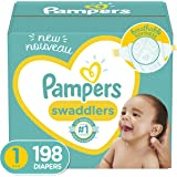 Pampers 帮宝适 尿布 Size 1, 198 Count 新品一个月供应 Size 1 (198 Count)