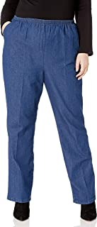 Chic 经典系列女式加大码棉质松紧腰长裤 Original Stonewash Denim 26