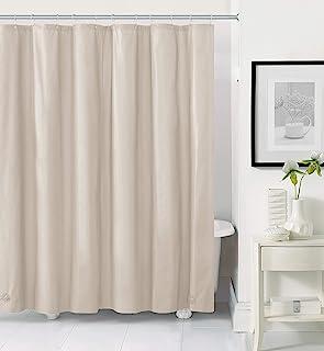 Hotel Collection 重型*霉变非毒高级 PEVA 浴帘衬垫防锈金属索环 - 各种颜色 象牙白/米色
