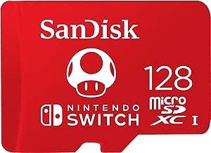 SanDisk 闪迪 用于任天堂Switch的SDSQXAO-128G-GNCZN microSDXC UHS-I卡,128 GB,任天堂许可产品