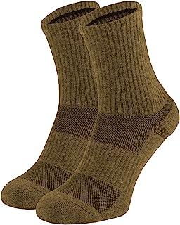 281Z *棉质微船员靴袜 - 缓冲鞋底 - 吸湿排汗 - 徒步户外(狼棕色)