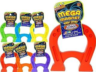 JA-RU 巨型磁铁玩具 4.75 英寸(单位)U 形马蹄形磁铁 适合儿童和成人 教育压力缓解玩具 非常适合实验学习 5460-1 6 Units Mega Magnet