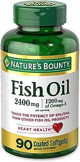 Natures Bounty 自然之宝 鱼油软胶囊,2400 毫克,1200 毫克 Omega-3,90 粒