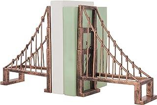 MyGift 复古青铜金属悬挂桥设计书架,2 件套
