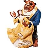 Enesco 迪斯尼陈列室高级时尚美女与野兽小雕像,多色,10.24英寸(约26.01厘米)