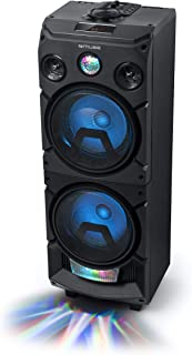 Muse 蓝牙派对扬声器 带电池 CD 播放器和灯光效果 (USB, AUX) 黑色M-1935 400 Watt