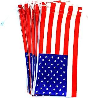 6 件眼镜眼镜 超细纤维软布袋 袋套 美国标志