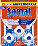 Somat 洗碗机清洁块 卫生清洁/无需额外冲洗,巨量装/12包