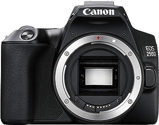 Canon 佳能 EOS 250D 数码单反相机机体(24,100万像素,7.7厘米(3英寸)可变角度显示屏,APS C 传感器,双像素 CMOS AF,4K,全高清,DIGIC 8,WLAN,蓝牙)黑色