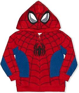 Marvel 男童蜘蛛侠全拉链时尚连帽衫