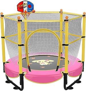 152.4 厘米儿童蹦床,迷你幼儿蹦床带外壳 1.5 米室内户外休闲蹦床带篮球箍,2-5 岁儿童生日礼物