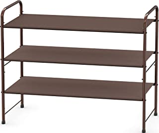 Simple Houseware 3 层鞋架储物收纳包 12 双/20 双,青铜色