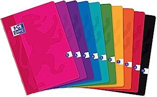 牛津 40 件彩色生活笔记本 A4 大正方形 Seyès 96 页装订封面卡 各种颜色