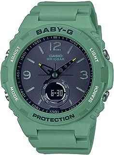 Casio 卡西欧 女士模拟 – 数字日本石英手表 带塑料表链 BGA-260-3AER