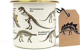Gift Republic 恐龙珐琅马克杯,500 毫升,多色