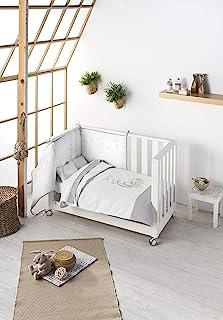 Pelsa Baby | 婴儿床被 | 为宝宝提供更多保护 | 被子 + 冬季保护 | 颜色 灰色 | 尺寸 120 x 60 厘米