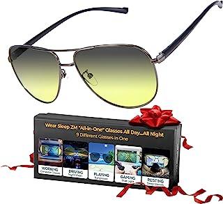 一体式蓝光眼镜 + 变色太阳镜 + 偏光驾驶眼镜 + 偏*眼镜 - 女士和男士全天都能看到更好 - *更好 - 止眼* - 停止*