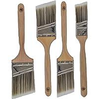 专业级高级壁画/装饰房子画笔套装非常适合专业画家和家庭所有者画笔,适合橱柜板栏内部外部和商业画笔。 4pk Angle…