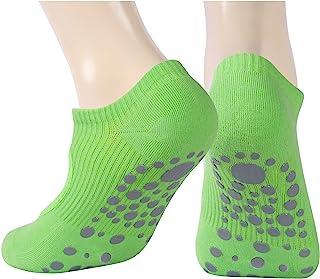 女士防滑瑜伽袜,Ristake 瑜伽袜,带抓地力彩色瑜伽袜