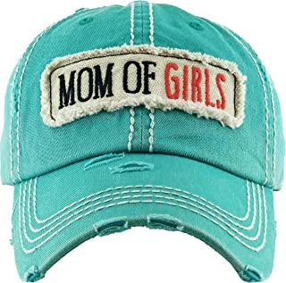 Funky Junque 女式棒球帽仿旧复古未加工刺绣贴片帽