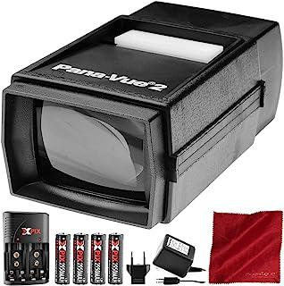 Pana-Vue 2 照明滑动式观看器 + 变压器 + 电池和充电器套装 豪华套装