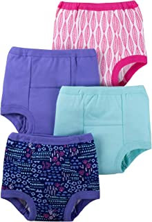 Lamaze *婴儿女童*训练裤 4 件装 紫色 / 粉色 / 花朵 2T