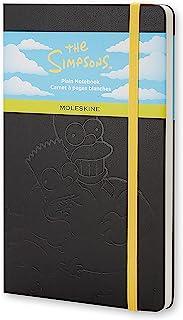 """Moleskine 限量版《辛普森一家》笔记本,硬封皮,大号,5"""" x 8.25""""(约12.7厘米 x 20.96厘米),普通纸/ 空白纸,黑色,240页"""