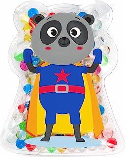 儿童*英雄擦伤舒缓器! | 冷却凝胶包/冰包,适用于*和擦伤 | 可重复使用 | 冷装和温暖使用 | 舒缓,快回微笑! | Jellyworks 制造