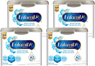 MeadJohnson 美赞臣 Enfamil 铂睿 A2 婴儿优质奶粉,罐装,可重复使用,铁基奶粉,19.5盎司,553克(4罐)