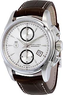 Hamilton 男士 H32616553 Jazzmaster 银色表盘手表带棕色表带
