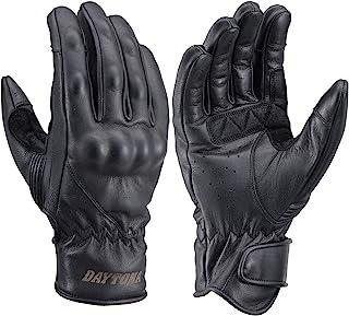 Daytona 摩托车用 手套 L尺寸 黑色 Got Skin 软护具 支持触摸屏 春夏秋 真皮 复古线 HBG-063 19562