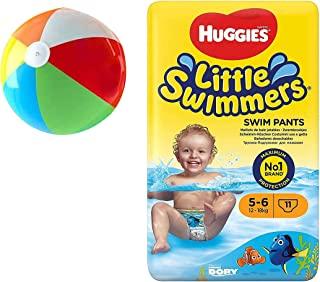 Little Swimmers 一次性游泳尿布 11 片(中号)附赠充气泳池球