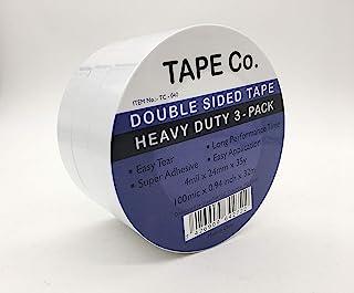 Tape Co. 双面胶带,可拆卸,2.54 厘米 x 35 码,3 件装。