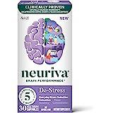 Neuriva 舒缓胶囊,支持补充剂(一瓶30粒),用于日常减轻压力,放松,专注,准确和集中*,L-茶氨酸,SOD,咖啡…
