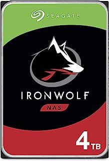 SEAGATE 希捷 IronWolf 4TB NAS内置硬盘HDD – CMR 3.5英寸(约8.89厘米)SATA 6Gb / s 5900 RPM 64MB高速缓存,用于RAID网络附加存储–无忧包装(ST4000VNZ008 / VN008)