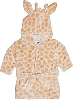 Hudson Baby 婴儿毛绒长颈鹿长袍,男女通用,均码,适合0-9个月的宝宝