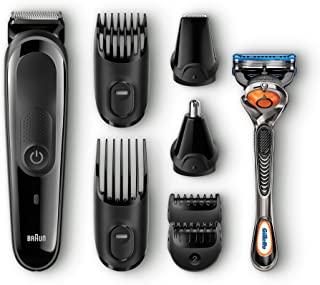Braun 博朗 MGK3060 男士8合1多合一剃须刀,无线理发器,黑/灰色,6个附件和吉列ProGlide剃须刀