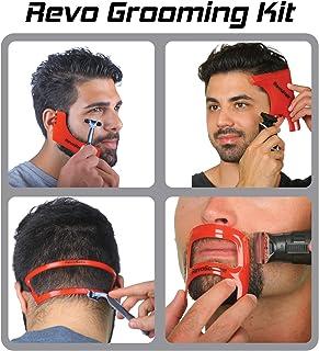 Revo 理发套件 - 胡须、*、山羊皮和颈部剃须模板指南 - 完美发际线阵容和胡须造型工具 - 理发和*套装 - 均码 - 理发用品