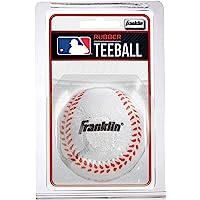 Franklin Sports MLB Rubber Teeball, White
