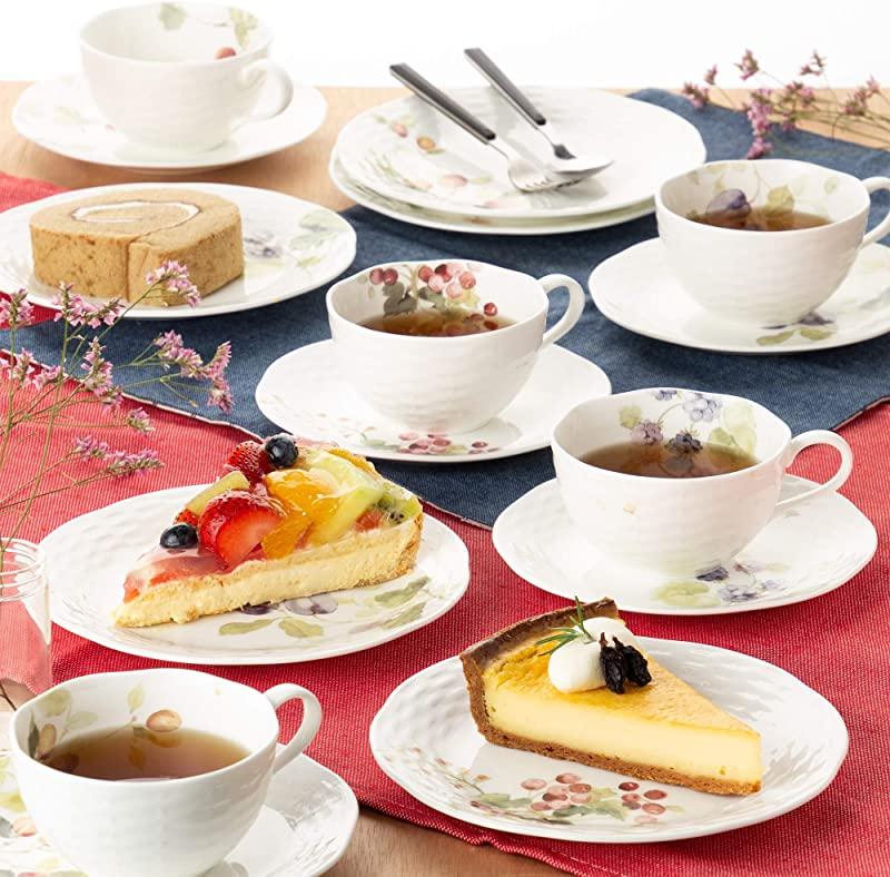 NARUMI 鸣海 Lucy Garden露西花园 骨瓷茶杯&茶托套装(210ml*5组) 96010-23067P3 镇店之宝¥421.35 可3件9折