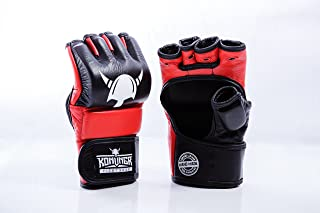 MMA 拳击训练手套 – 手工制作,采用优质牛皮制成 – 混合武术格斗手套 – 适合家庭穿孔包或战术笼格斗 – 适合男士、女士