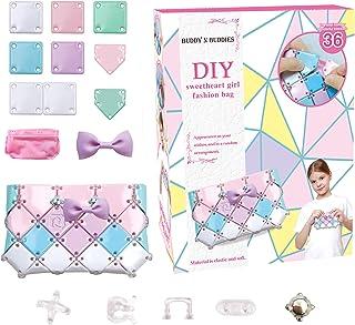 BUDDY N BUDDIES 制作您自己的时尚钱包,适合 6 岁 7 8 9 10 岁女孩的*佳礼物。DIY 包,适合女孩的有趣艺术和手工活动套件,适合儿童的可爱女孩礼物。 (钱包)