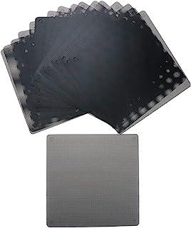 HONJIE 5.5 英寸/140 毫米防尘过滤器电脑风扇厚度 0.5 毫米过滤器冷却器 PVC 黑色防尘保护套电脑网面 20 包