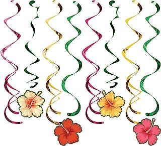 Creative Converting 343274 热带花朵 Dizzy Dangler,24 英寸,多色