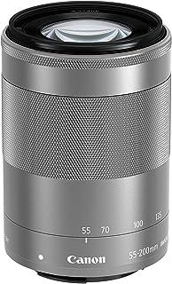 CANON EF-M 55-200 mm f/4.5-6.3 IS STM 小型变焦镜头,适用于 EOS M 摄像机 - 银色