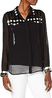 French Connection 女式装饰亮片格子衬衫
